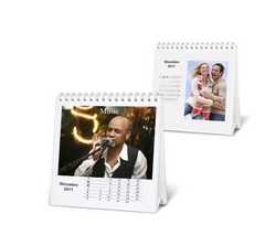 Calendrier photo de bureau, blanc, par myPIX